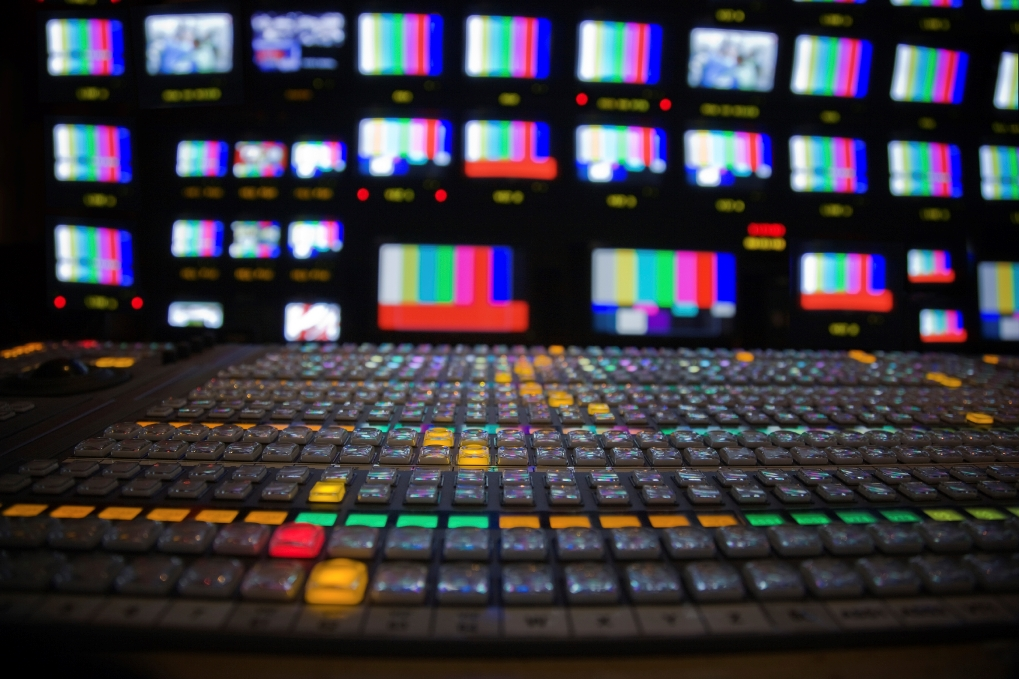TV newsroom